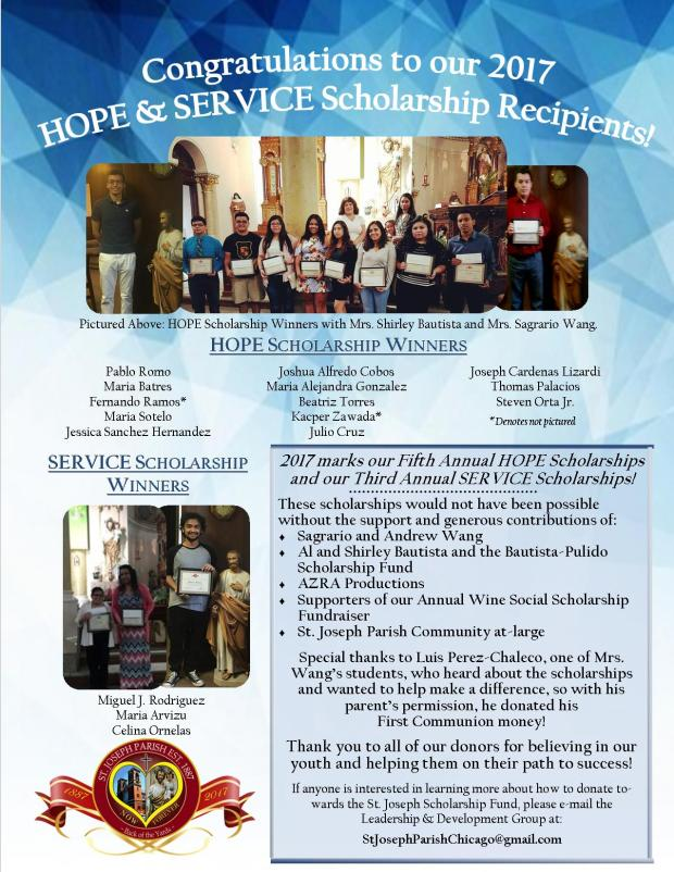 2017 HOPE SERVICE Winners Flyer