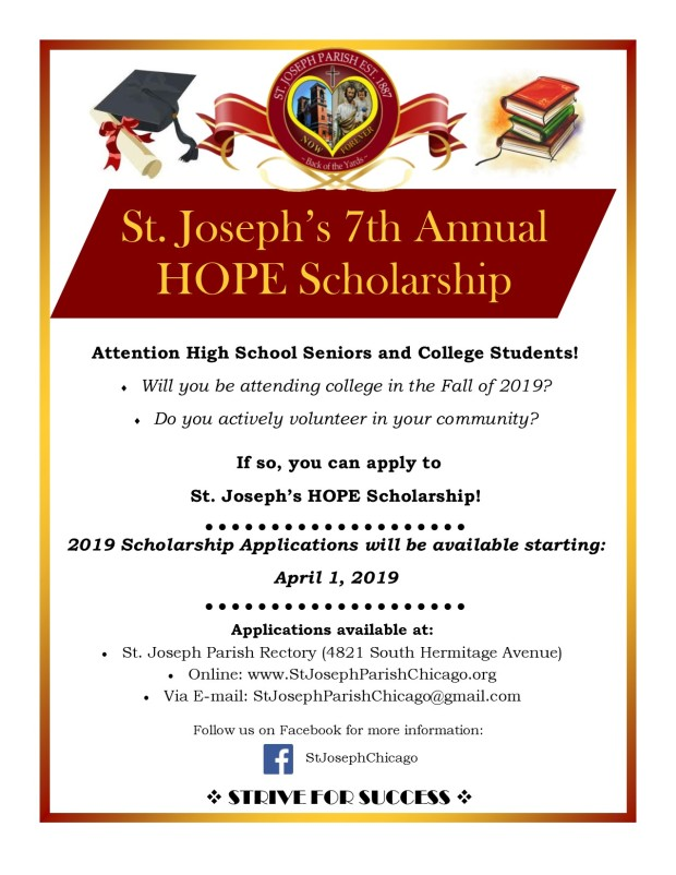 2019 St. Joseph HOPE Scholarship