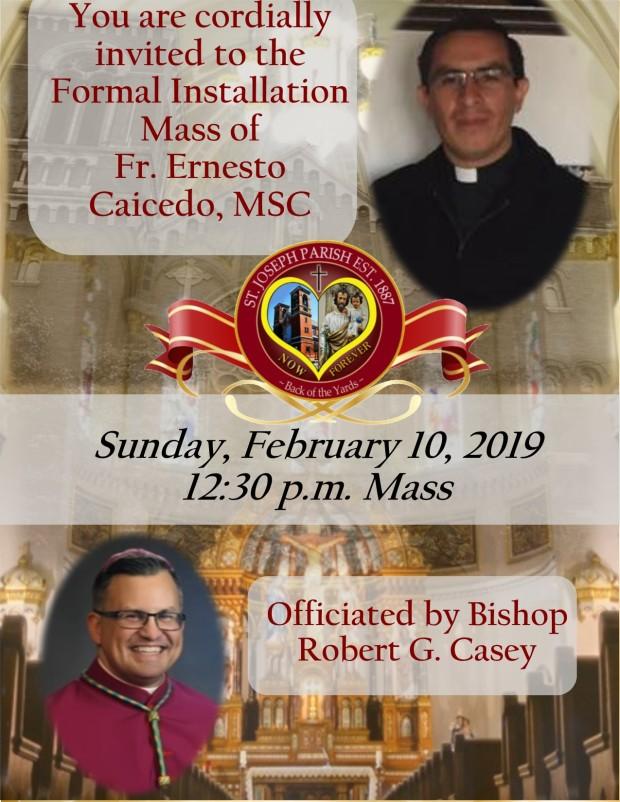 Fr. Ernesto Installation Mass