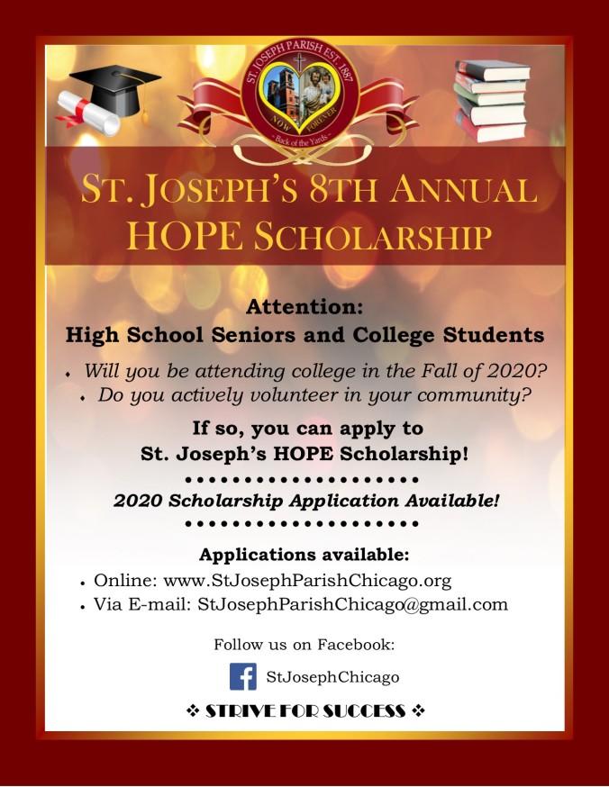 2020 St. Joseph HOPE Scholarship