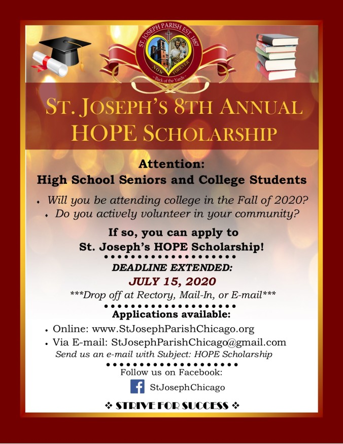 2020 St. Joseph HOPE Scholarship EXTENSION